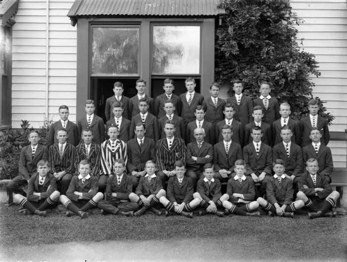 Any 'oarsmen' among this group of Christchurch schoolboys?