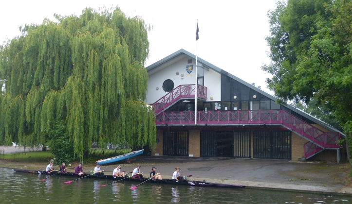 Pic 15. The Downing College boathouse. The first was built in 1895, then it was rebuilt in 1938 and again in 2000.