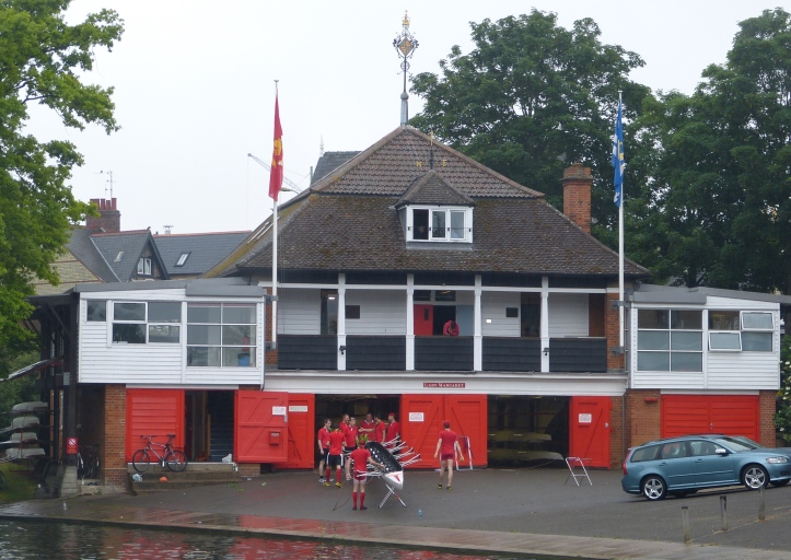 Pic 16. The boat club at St John's College is called Lady Margaret. Its boathouse dates from 1905.