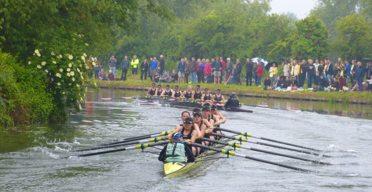 Pic 15 & Pic 16. Caius chase Downing in the battle for the women's Head of the River.