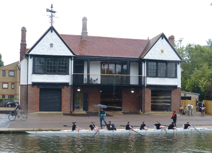 Pic 18. Another fine boathouse, this belonging to Trinity Hall, dating from 1905.