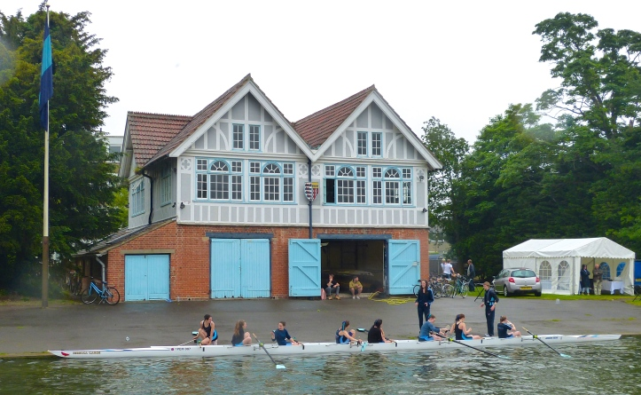 Pic 19. The 1895 Grade II Listed Pembroke College boathouse.