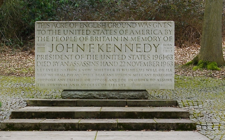 Pic 3. Britain's memorial to President Kennedy is also sited at Runnymead. Picture: Andrew Mathewson.