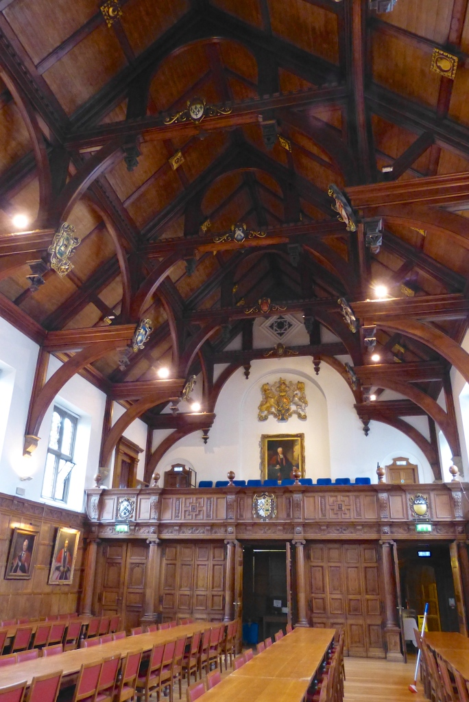 Pic 6. The College's Hall, though magnificent, is new by Cambridge standards, dating from 1853.
