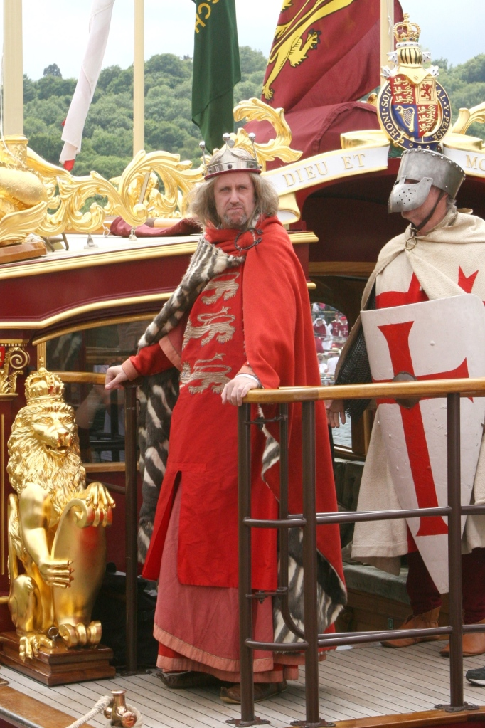 Pic 8. 'King John' aboard Gloriana.
