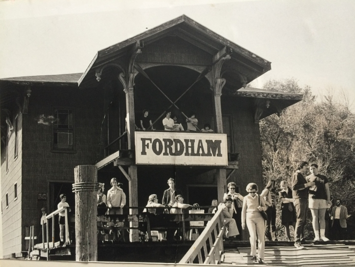 The Victorian era Fordham boathouse, which succumbed to fire in 1978.