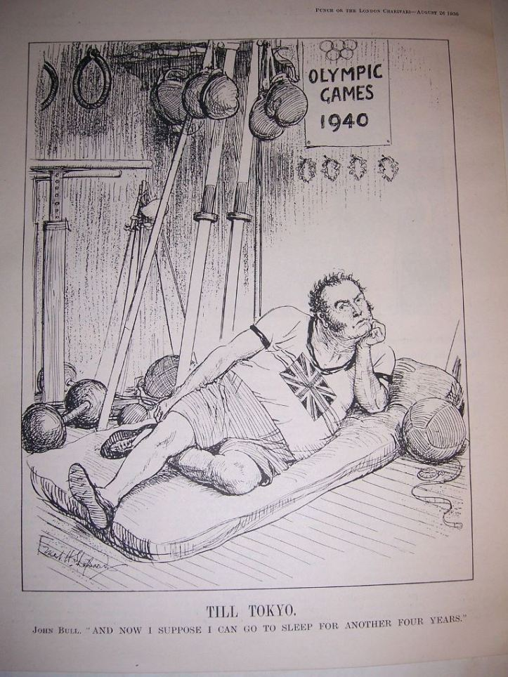 A sporting John Bull as featured in Punch in August 1936.