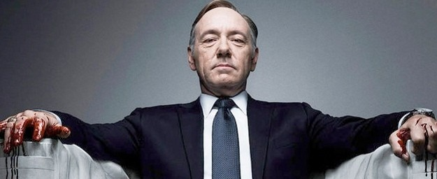 Kevin Spacey as Frank Underwood.