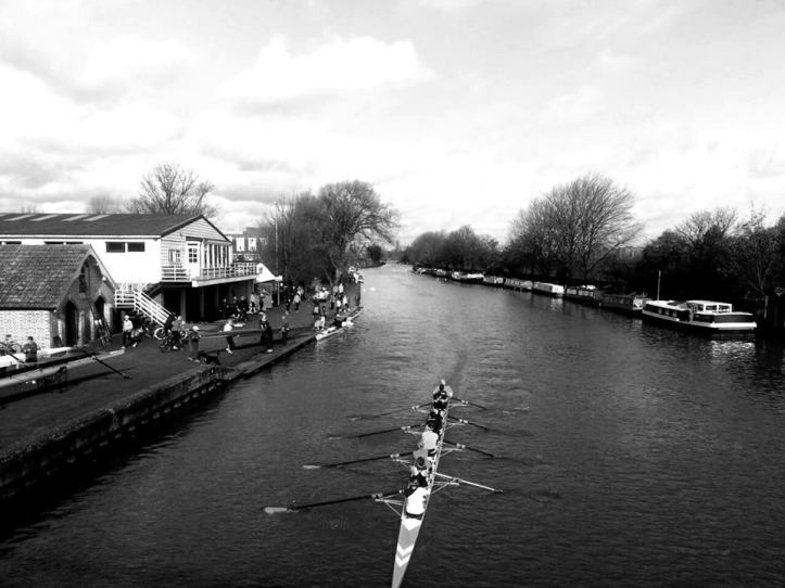 Lea Rowing Club, a recent picture taken from High Bridge.