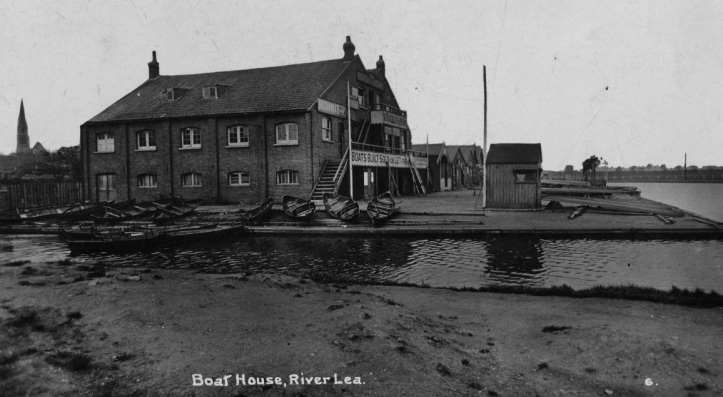 Radleys Lea Dock Boatyard circa 1914.