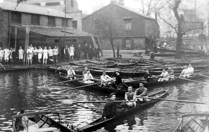 Radleys' Paradise Dock Boatyard in the early 1900s.