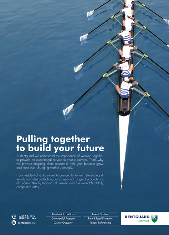 Pic 11. 2013: Rentguard Insurance, 'pulling together'.