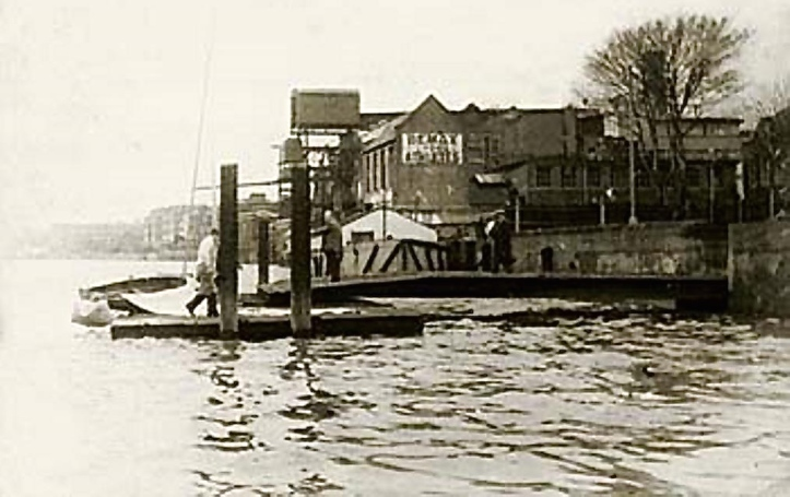 Pic 5. The Bemax factory on the Thames at Hammersmith. When Turner lived on the site, his house was surrounded by meadows and he used a summer house overlooking the river as a studio.