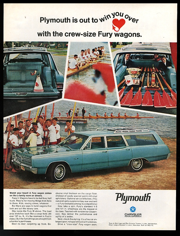 Pic 7. 1967: 'What emissions problem'? The Plymouth 'crew-size Fury wagon'.
