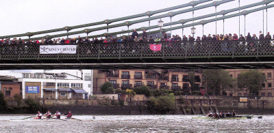 The Hammersmith Bridge at the 2012 Fuller's Head of the River Fours. Photo: Tim Koch.