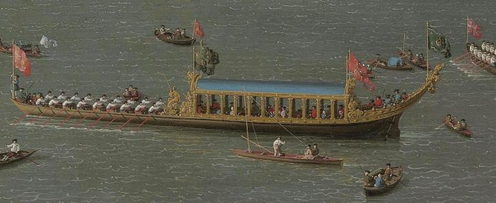 Detail of the Lord Mayor's float in Canelloto's painting