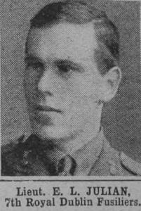 Lieut. Ernest Lawrence Julian in his Royal Dublin Fusiliers uniform.