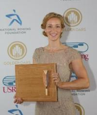 For the second time in a row, the Female Athlete of the Year Award was presented to Megan Kalmoe. Photo: USRowing.