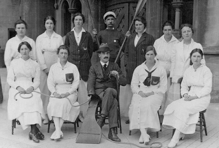 Pic 13. The Aberystwyth University Ladies Rowing Group, 1916. Despite their genteel name, this looks like a serious crew and I would love to know more about 'ladies rowing' at Aberystwyth.