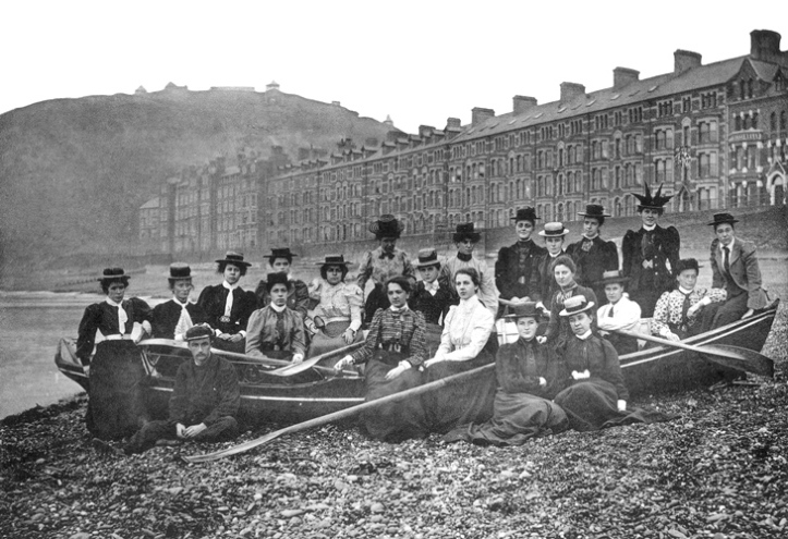 Pic 14. The Ladies Rowing Group pictured on the beach at Aberystwyth. I suspect that this picture predates the one above. The University was a pioneer in women's higher education, first admitting female undergraduates in 1884. https://www.aber.ac.uk/en/is/news/2013/women-day/