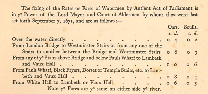 Pic 2 A Fare Table of 1671.