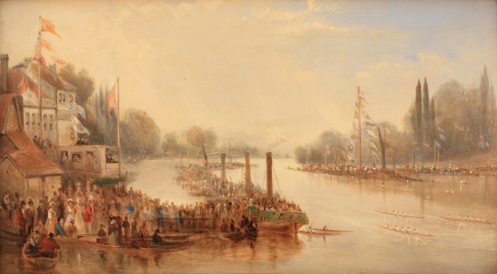 Pic 3 The Grand Metropolitan Regatta 1849 by James Baker RA (River and Rowing Museum).