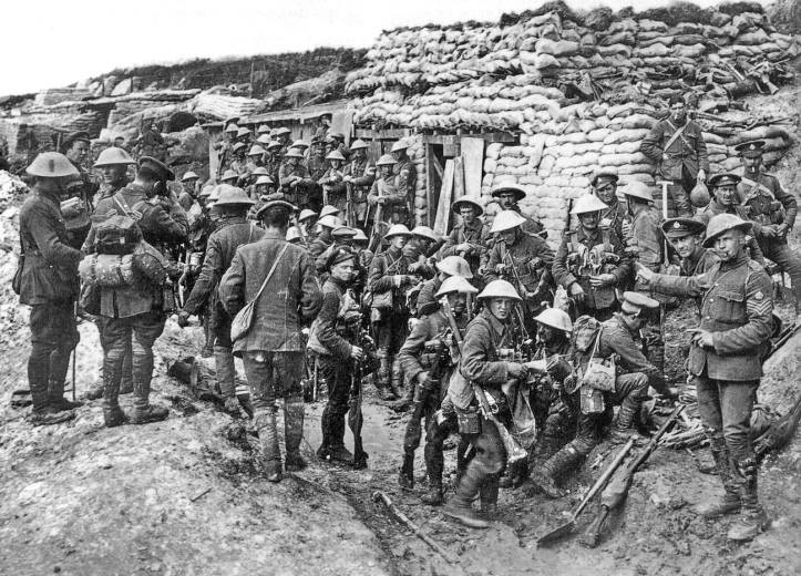 Pic 3. A company of the Public Schools Battalion (16th Battalion, The Middlesex Regiment) prior to the Battle of the Somme, 1916.