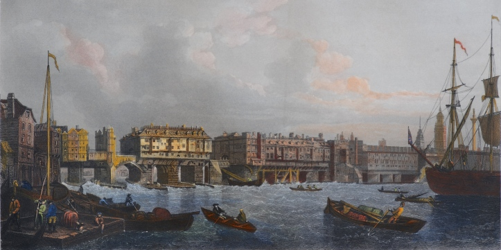 Pic 4 London Bridge 1745 (Reginald Francis Print Collection).