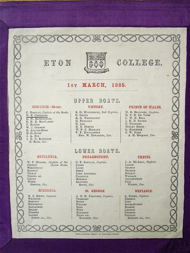 Pic 4. The 1885 programme for the Procession of Boats. The modern one is very similar.