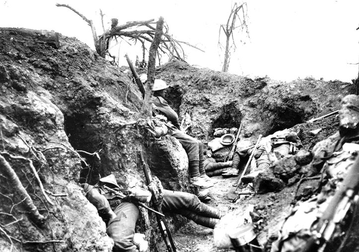 Pic 4. Trench warfare: 'Months of boredom punctuated by moments of terror'.