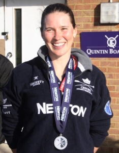 Shelley Pearson, three seat, in Oxford women's winning crew in 2015.