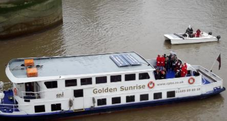 The Lord Mayor arrives at Tower Bridge on the Golden Sunrise.