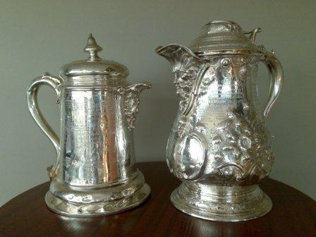 Dublin Metropolitan Regatta trophies: Civic Challenge Cup (L) and Visitors' Challenge Cup (R).