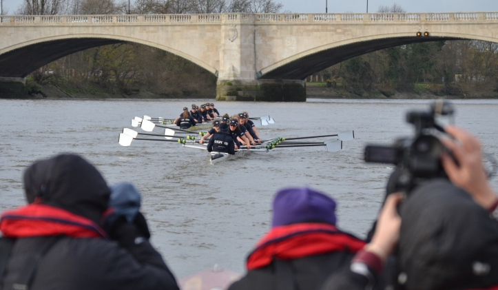 Pic 19. At the finish, Charybdis are in front of Scylla by three lengths.