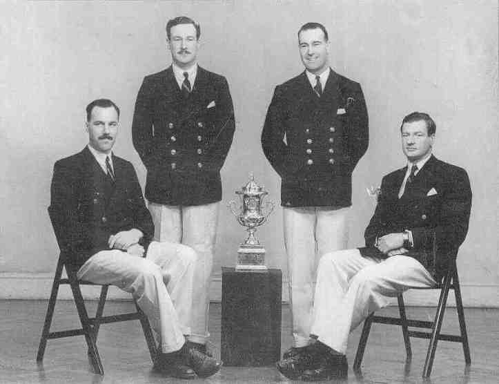 The Quintin BC crew that won Henley's Wyfold Cup in 1947. Richard is standing on the left. Picture: www.quintinboatclub.org