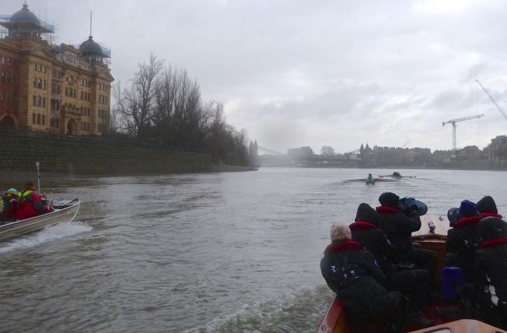 Pic 3a. By Harrods, Twickenham had over a length on Tideway and were washing them down.