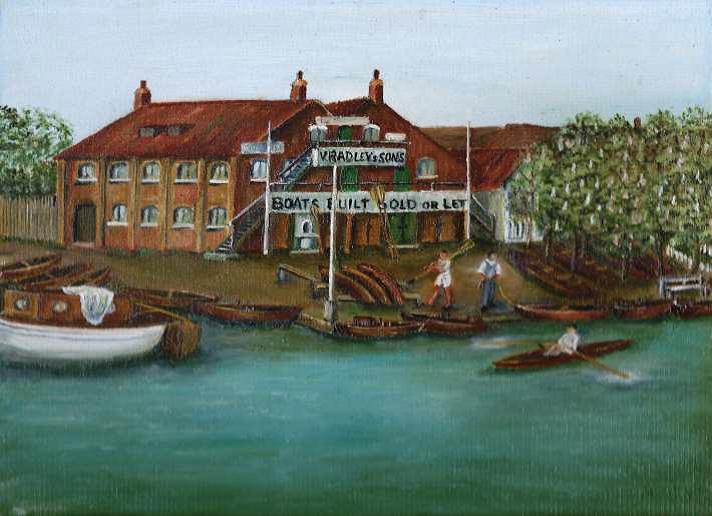 Radleys boathouse where Cecil ladies were based.
