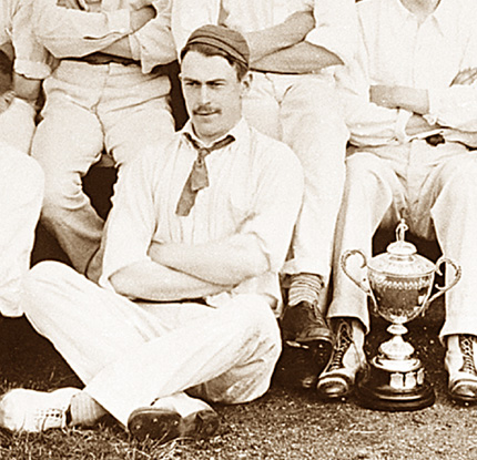 Thomas Andrews in his cricket whites. Photo: The Ulster Cricketer.