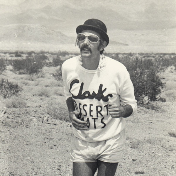 Record sales of the Desert Boot in 1971 coincided with Kenneth Crutchlow running 130 miles across Death Valley for a $1,000 wager in August 1970, wearing a bowler hat and Clarks Desert Boots, whilst carrying a rolled umbrella.