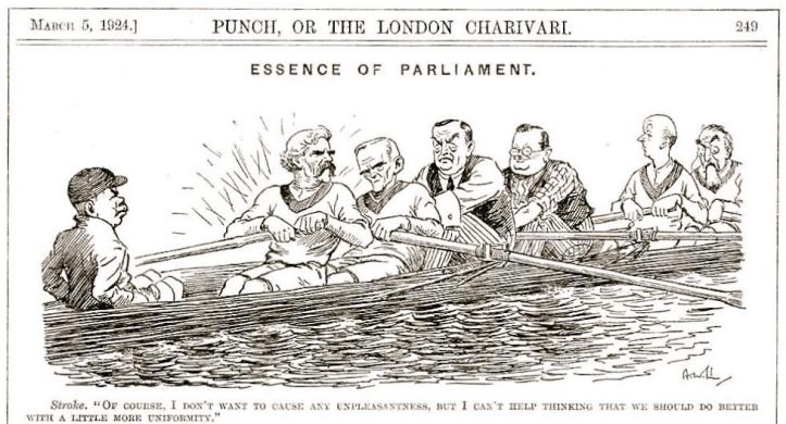 Pic 1. A Punch cartoon of March 1924, published six weeks into Britain's first Government formed by the predominantly centre-left Labour Party.