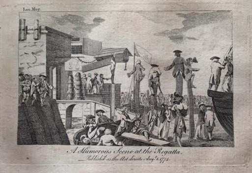 1775 London Magazine Regatta copper eng - image [A] (2)