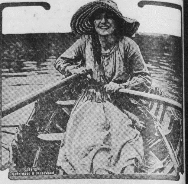 Maiden Makes Daily Delivery to Houseboats and Other Points Along the Stream.