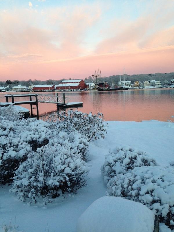 Mystic River in snow. Photo: Ingrid Buckhorn.