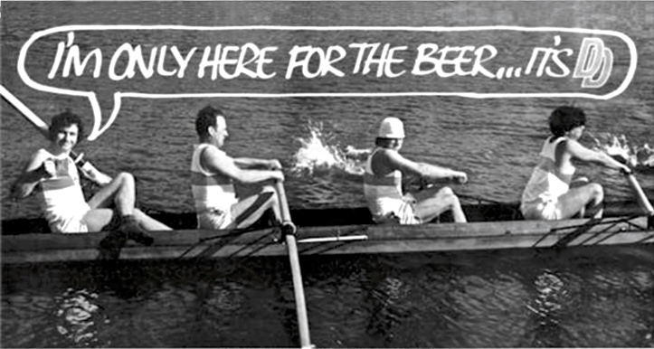 Pic 4. A typical piece of Cygnet fundraising enterprise. In 1972 some members modelled for this picture used as part of a very popular campaign for the dreadful 'Double Diamond' beer. Older British readers will remember the slogan, 'I'm only here for the beer – it's Double Diamond'.