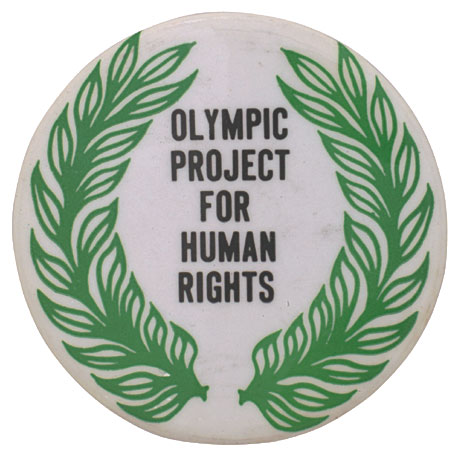 Badge of the Olympic Project for Human Rights.