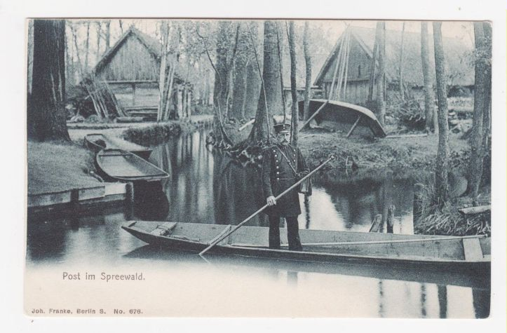 Two Oars Good, One Oar Bad - Mail Delivery on the River in Germany c.1909