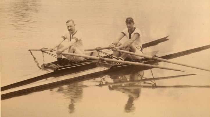 Coach and Pupil. Photo courtesy of The National Rowing Foundation.