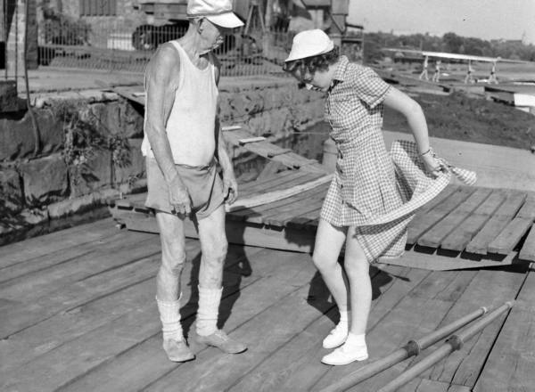 Fred Plaisted and a young member of Philadelphia Girls Rowing Club in July 1939. Photo: David E. Scherman of Life magazine.