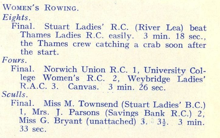 June Radley says it was not a Stuart Ladies eight but a combined Lea Clubs crew.
