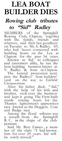 Lea Boat Builder Dies